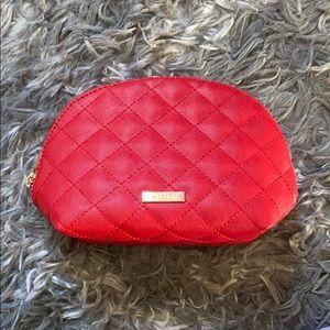 Aldo red cosmetics bag